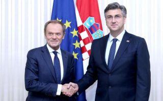 Plenković i Tusk razgovarali o hrvatskom predsjedanju Unijom