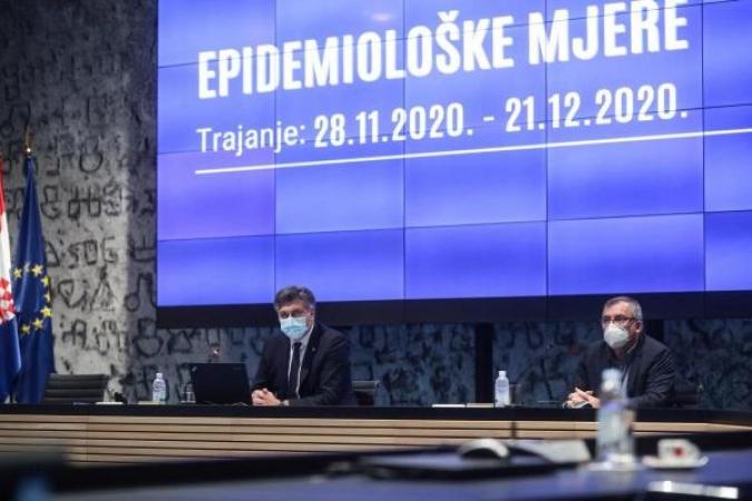 Od danas na snazi nove strože epidemiološke mjere