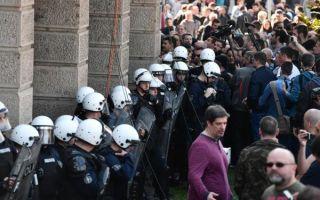 Neredi između prosvjednika i policije u Beogradu