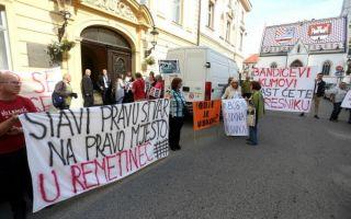 Prosvjed protiv prijedloga Plana gospodarenja otpadom