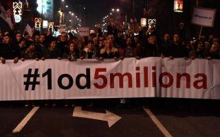 Održan još jedan prosvjed u Beogradu: Vučićev cirkus bio je njegov oproštajni govor